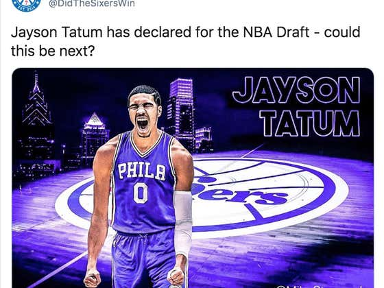 The Replies To This 2017 Tweet About Jason Tatum Possibly Being Drafted By The Sixers Are Very, Very Depressing