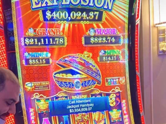 Just Your Casual $3.9 Million Slot Machine Jackpot On A $5 Spin