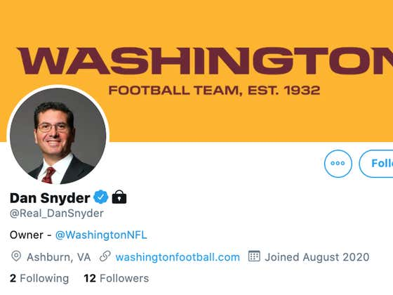 Dan Snyder Officially Joining Twitter Is A Bold, BOLD Move