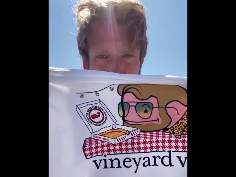 This Is How You Sell Product. Entire World Take Notes. Vineyard Vines Shirts Now On Sale.