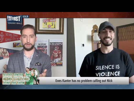 Enes Kanter Finally Got Nick Wright To Bend The Knee And Admit He Was Wrong