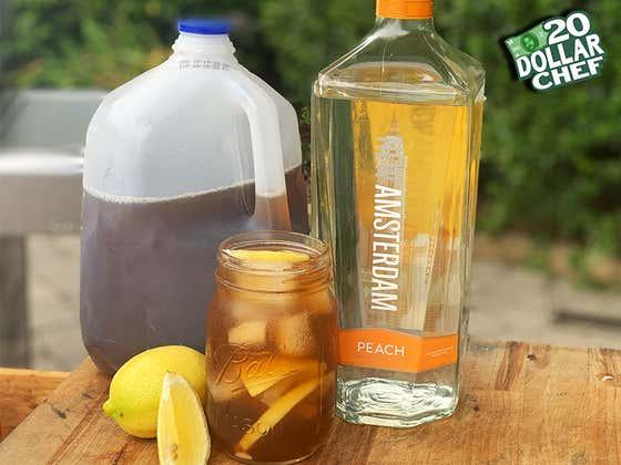 20 Dollar Chef - Peach Vodka & Sweet Tea