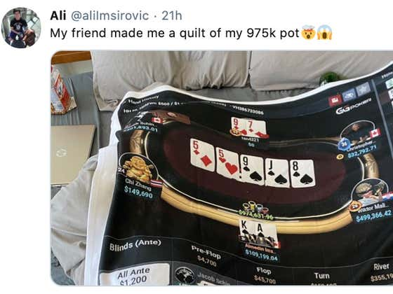 When You Win A (Nearly) $1 Million Pot, It Keeps You Warm Forever