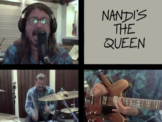 Dave Grohl Went And Wrote A Whole Song For Nandi (The 10-Year-Old Drummer He's Battling)!
