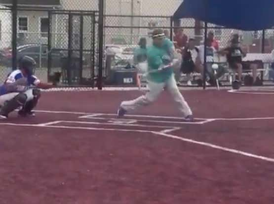 What's The Only Thing Better Than Watching Bartolo Colon Hitting Bombs In A Rec League Game? Watching Bartolo Hitting Bombs In A Rec League Game With Gary Cohen Making The Call