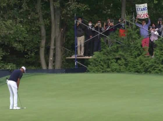 I Stand With This Guy Who Made A 'When We Stand We Stand With Tiger' Sign For The US Open