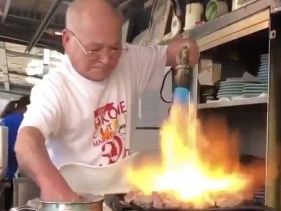 There's Cooking With Fire, And Then There's This Mad Man