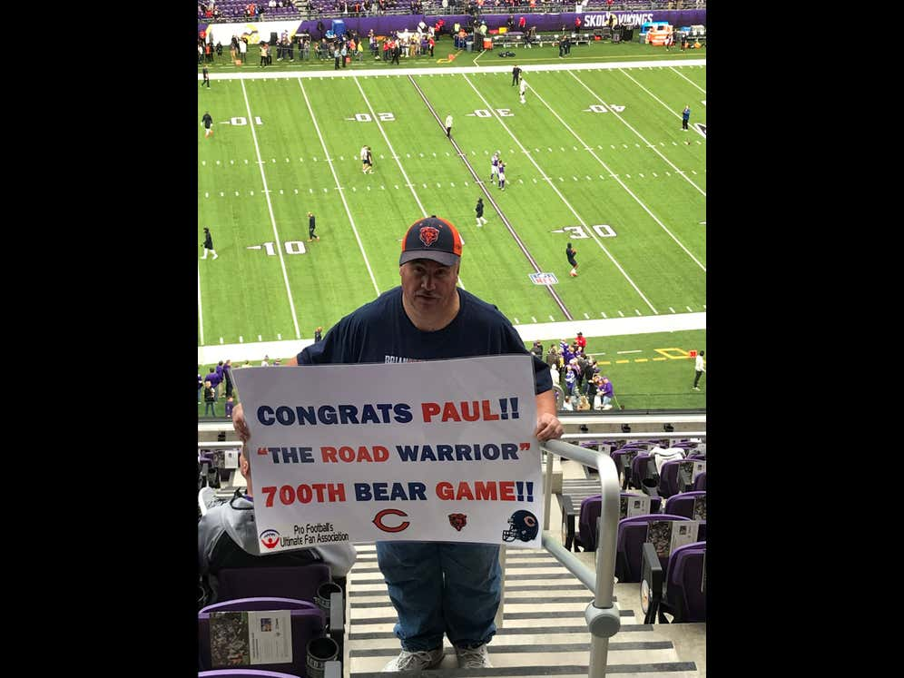Everybody Pour A Little Out Today For Bears Superfan Paul Zywicki, Whose Consecutive Game Attendance Record Ends Today At 395 Straight