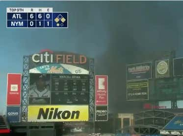 We Interrupt Your New York Football Sunday Of Sadness To Announce There Was A Literal Tire Fire At Citi Field