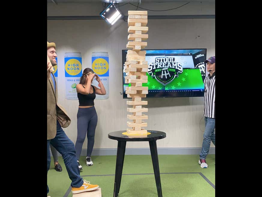 We Had Our First Jenga 50 Burger On Stool Streams Yesterday, With The Game Ending After There Were Zero More Moves To Make