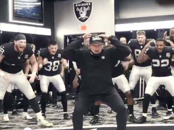 I Could Watch Jon Gruden Lead The Raiders Locker Room Dance Celebration All Damn Day