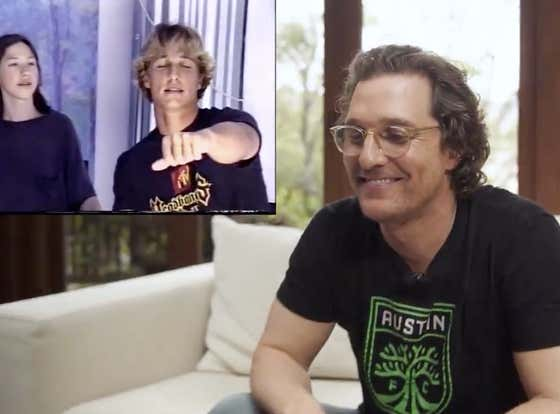 """Matthew McConaughey Watching His """"Dazed and Confused"""" Audition Tape For The First Time Is As Cool As You'd Imagine"""