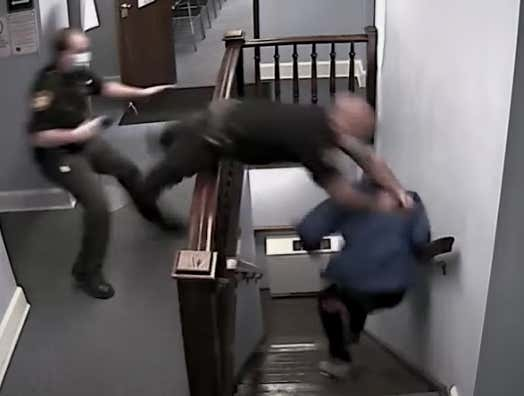WILD Video Of A Drug Suspect Escaping A Courthouse And A Cop Going Full Send While Trying To Stop Him