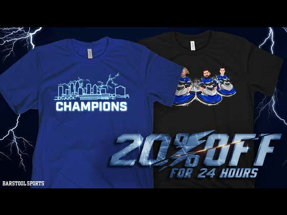 THE TAMPA BAY LIGHTNING ARE STANLEY CUP CHAMPIONS - ALL LIGHTNING MERCH IS 20% OFF