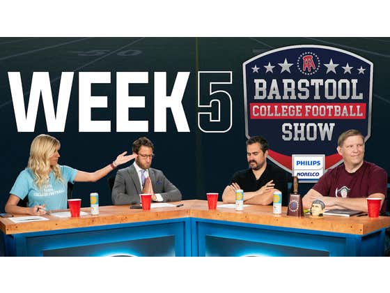 Barstool College Football Show presented by Philips Norelco - Week 5