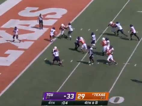 An Intentional Safety Pushes The Texas-TCU Total Over In A Wild Gambling Moment