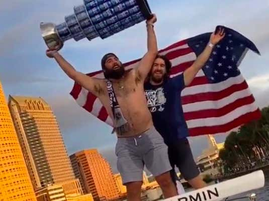 Did Pat Maroon Actually Pee His Pants At The Lightning Cup Parade? Spittin' Chiclets Got To The Bottom Of It