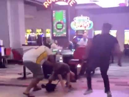 "A Bunch Of Scumbag Lakers Fans Chased A Guy Down In Vegas Because He Yelled ""Heat Nation"" After Game Five"