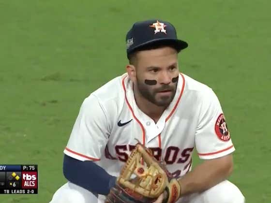 You Really Hate To See Jose Altuve Get The Yips In The Playoffs And Completely Sabotage The Houston Astros