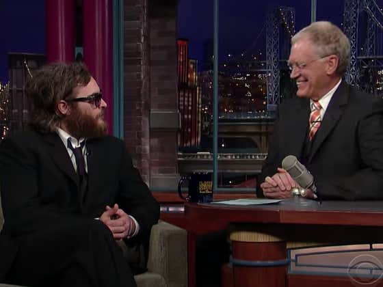 Wake Up With David Letterman Dismantling Joaquin Phoenix On The Late Show
