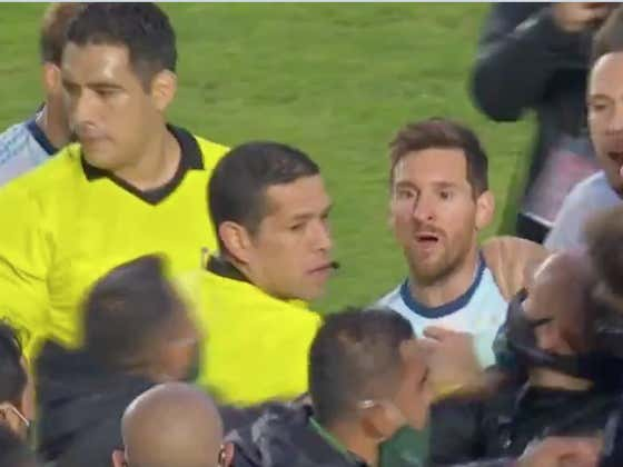 Messi Called Bolivia's Coach 'Baldie' And Tried To Fight Him Because *GASP* Bolivia's Coach Was Screaming At Him The Entire Match