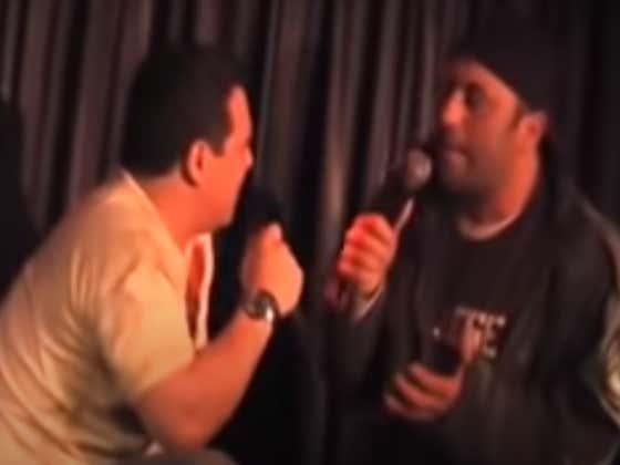 Wake Up With Joe Rogan Owning Carlos Mencia At The Comedy Store