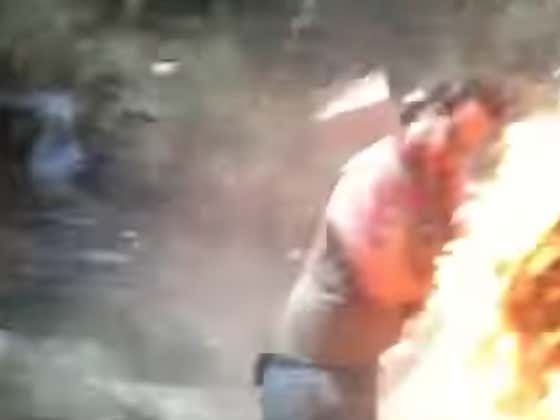 Throwback Explosion Thursday - Gasoline Bonfire Gone VERY Wrong