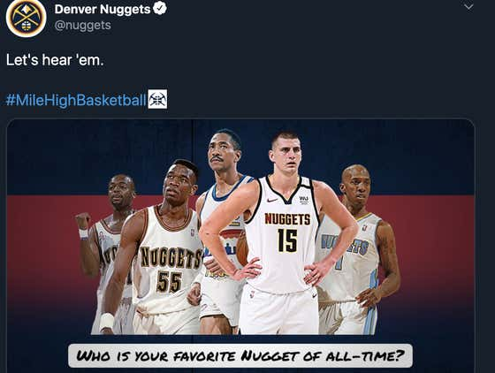 The Nuggets Social Media Team Giving A Giant Middle Finger To One Of The Best Players In Franchise History Is Amazing