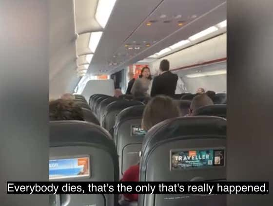 """""""Everybody Fucking Dies"""" Says Maskless Woman, Right Before Coughing In Everyone's Mouth On Her Way Off The Airplane"""