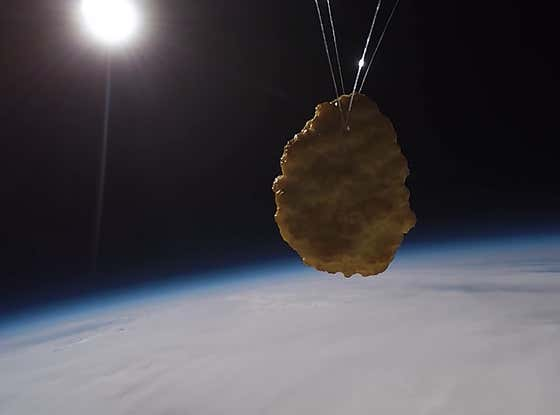 One Small Step For Man, One Giant Dunk For Honey Mustard: The First Chicken Nugget Has Been Sent To Space