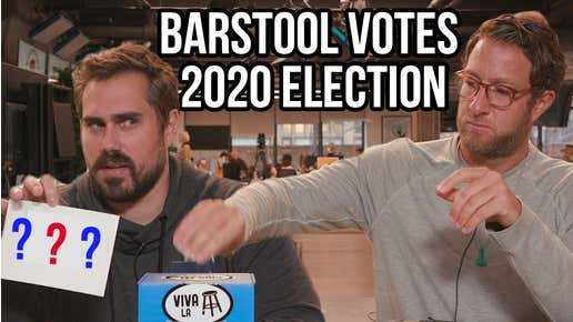 Barstool Votes For The President Of The United States