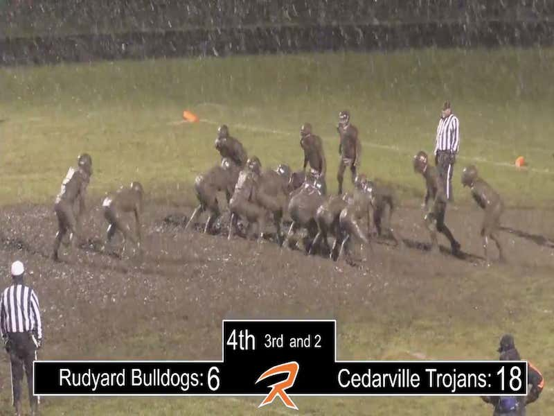 There Was A Snowy Mud Bowl High School Football Game In The Michigan Upper Peninsula With Kid Announcers And It Was AWESOME