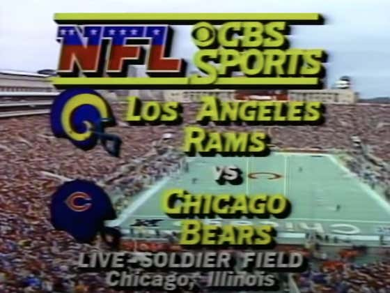 Get Your MNF Juices Flowing With Bears vs. Rams: 1985 NFC Championship Game (FULL GAME)