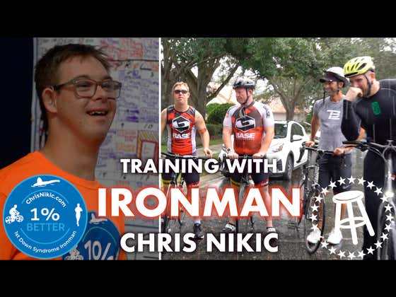 Last Week I Got To Train With Ironman Chris Nikic. Next Week He Will Be The First Special Needs Triathlete To Complete The Race Ever.