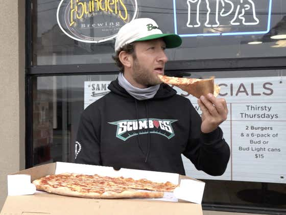 Barstool Pizza Review - Sam's Boardwalk Style Pizza (Havertown, PA)