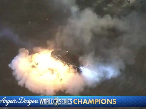 Celebrating an LA Sports Title 101: Drive Over Fireworks, Accidentally Shoot Them Out Of Your Car Into The Crowd, And Have Said Car Light On Fire While You're Still Inside