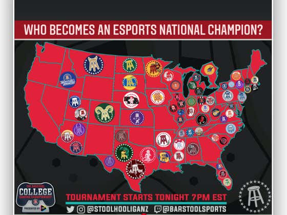 64 Universities Entered The Barstool College Gaming Championship And 32 Teams Remain...Who Made The Cut?