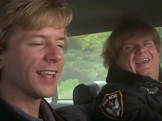 Wake Up With Chris Farley And David Spade High As Hell Talking About The Word Roads In 'Black Sheep'