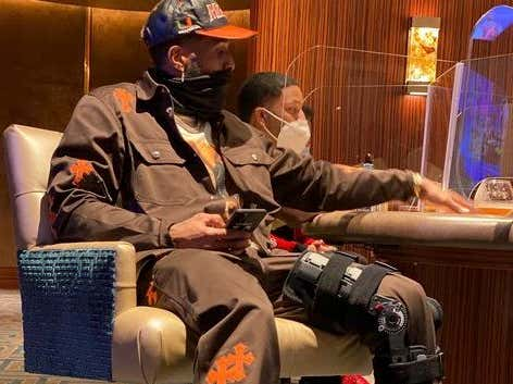 OBJ Has Taken To Playing Poker While He Rehabs His Leg