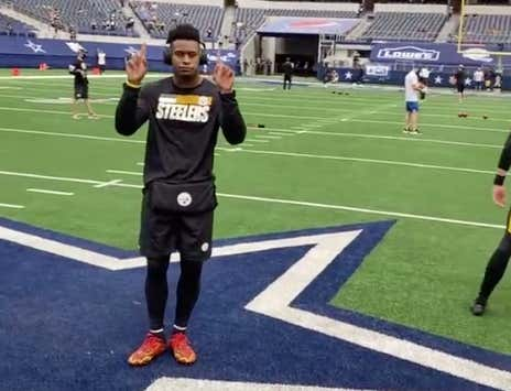 Is Juju Smith-Schuster Dancing On The Cowboys' Star Pregame While The Kickers Warm Up The Softest Attempt At Trash Talk In NFL History?