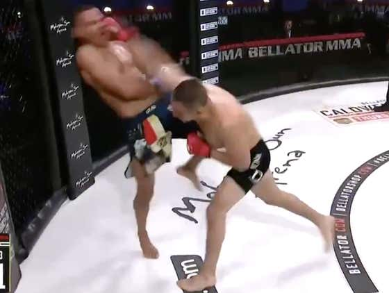 Watch Aaron Pico Throw This BOMB Of A Right Hand Like A God Damn 99MPH Fastball
