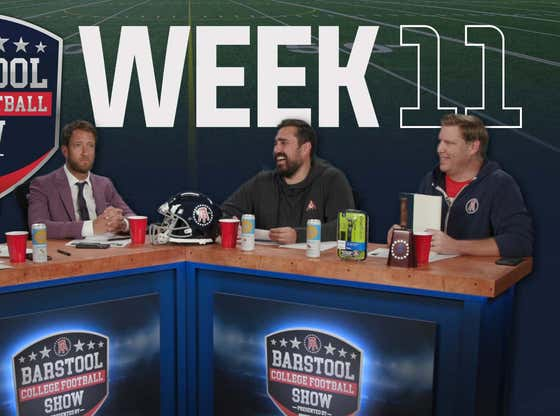 Barstool College Football Show presented by Philips Norelco - Week 11