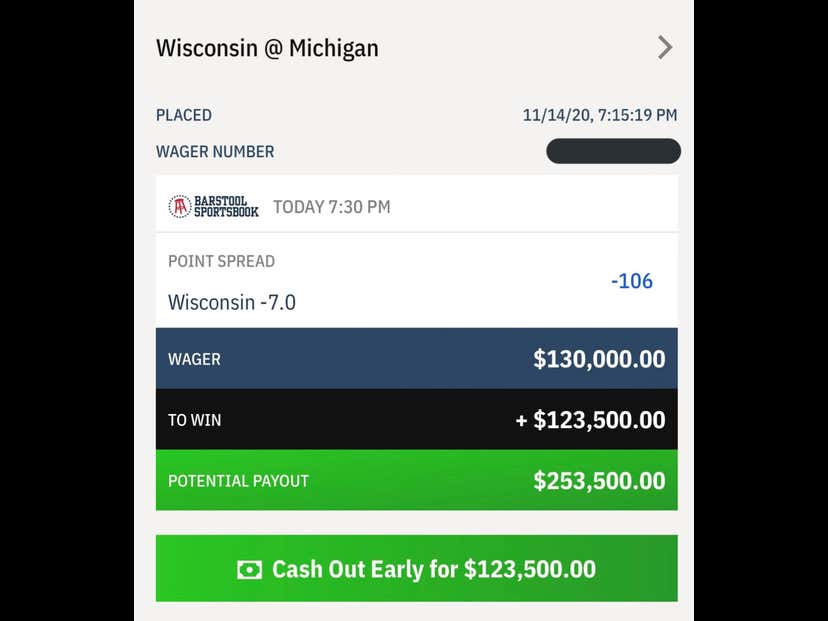 Congratulations To Whatever Disillusioned Michigan Alum Who Made This Bet. Brilliant.