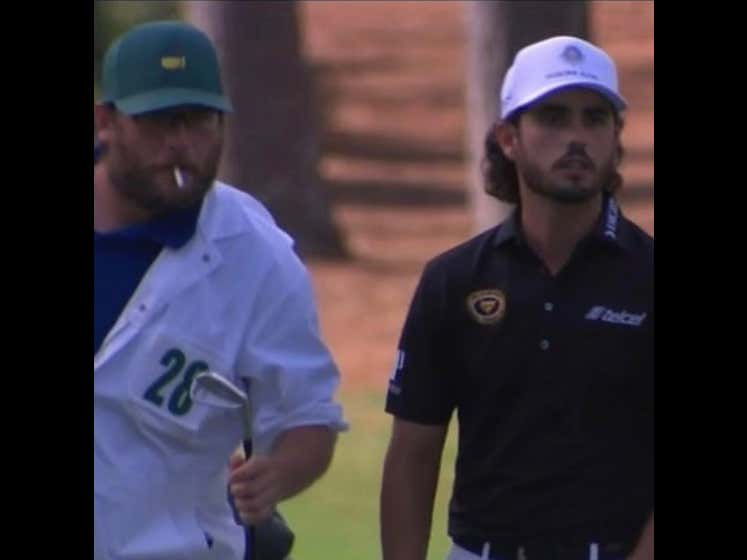 How Did Nobody Talk About Abraham Ancer's Caddy Smoking Heaters All Weekend At Augusta?