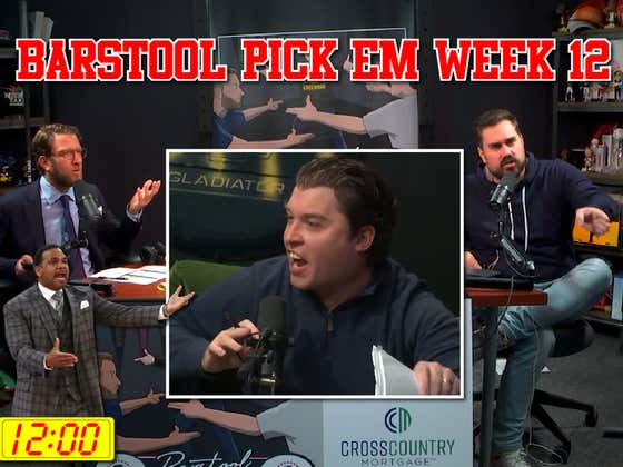 The Scheduling Conflict - Barstool Pick Em Week 12