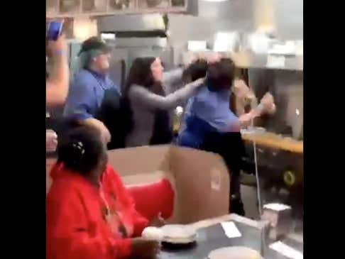 We've Got A Good Old Fashioned Girl-On-Girl Donnybrook Smack Dab In The Middle Of A Waffle House