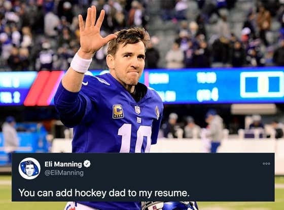 Eli Manning's Transition Into A Hockey Dad Is Going To Be Glorious