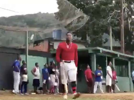 Ronald Acuña Apparently Just Plays Baseball at the Park in Venezuela During the Offseason and Still Pimps the Shit Out of His Homers
