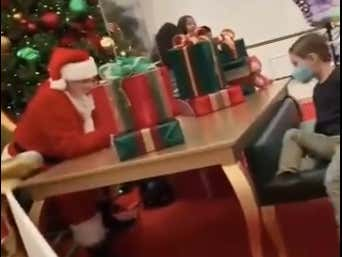 VIDEO: Santa Reduces a Kid to Tears by Saying He Will NOT Bring Him a Nerf Gun