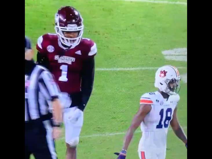 Mississippi State Cornerback Talks A Gang Of Shit, IMMEDIATELY Gets Torched For Six Right On His Head
